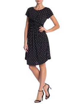 Polka Dot Print Twist Dress by West Kei