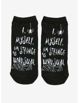 Beetlejuice Strange And Unusual No Show Socks by Hot Topic
