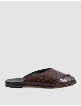 Pajama Sandal In Brown Croc by Trademark