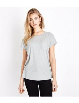 Green Organic Cotton Pocket Front T Shirt by New Look