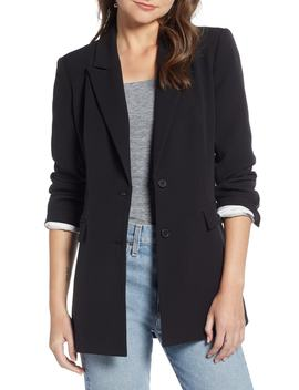 Slouchy Narrow Lapel Blazer by Something Navy