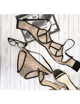 Beautiful Handmade Underwear, Patnies + Bra, Handmade Lingerie Set, Be Sexy by Etsy