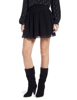Pleated Flounce Miniskirt by Something Navy