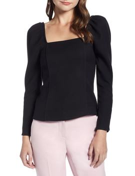 Fitted Square Neck Top by Something Navy