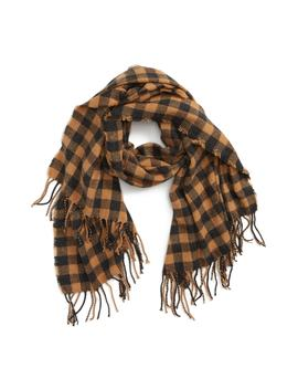 Check Fringe Scarf by Bp.