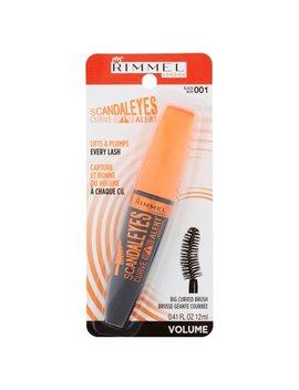 Rimmel London Scandal Eyes Curve Alert 001 Black Big Curved Brush Mascara, 0.41 Fl Oz by Rimmel