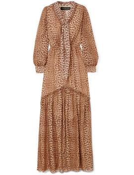 Verushka Leopard Print Silk Chiffon Maxi Dress by Rachel Zoe