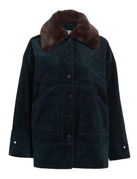 Ridgewood Corduroy Faux Fur Jacket by Ganni
