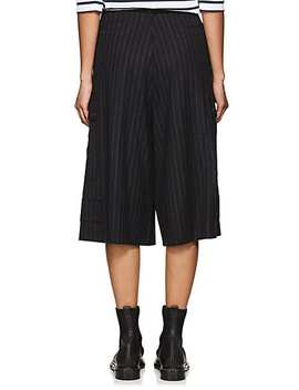 Pinstriped Virgin Wool Culottes by J.W.Anderson