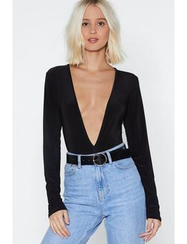 Truth V Known Plunging Bodysuit by Nasty Gal