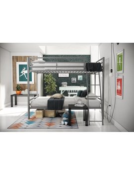 Novogratz Maxwell Twin/Twin Metal Bunk Bed, Multiple Colors by Novogratz