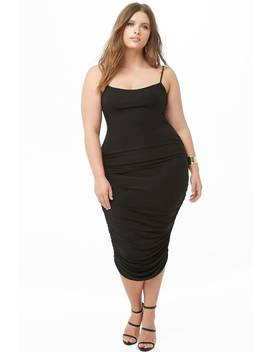 Plus Size Ruched Midi Dress by Forever 21