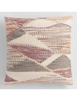 Multicolor Abstract Woven Indoor Outdoor Throw Pillow by World Market