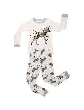 Elowel  Zebra Cotton 2 Piece Pajama Set by Elowel