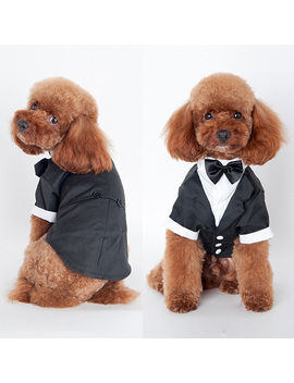 Pet Dog Cat Wedding Party Clothes Suit Tuxedo Bow Tie Puppy Coat Costume Apperal by Unbranded