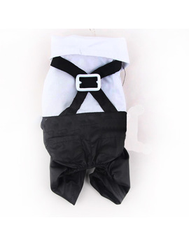 Small Pet Dog Cat Tuxedo Bow Tie Suit Prince Wedding Puppy Clothes Coat Apparel by Unbranded