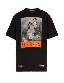 Heron Print T Shirt by Heron Preston