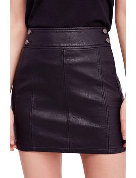 Retro Faux Leather Body Con Miniskirt by Free People