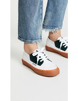 X Alexa Chung 2767 Cotleabrush Lace Up Sneakers by Superga