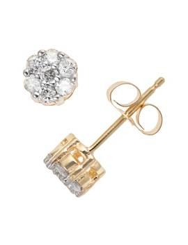 10k Gold 1/4 Carat T.W. Diamond Cluster Stud Earrings by Kohl's
