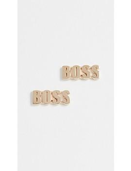 14k Gold Boss Stud Earrings by Established