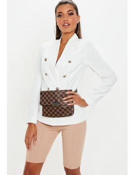White Military Blazer by Missguided