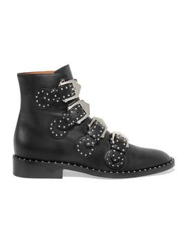 Elegant Ankle Boots Aus Leder Mit Nieten by Givenchy