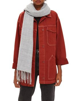 Supersoft Fringe Scarf by Topshop