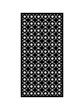 0.3 In. X 71 In. X 2.95 Ft. Orbit Recycled Plastic Charcoal Decorative Screen (3 Piece Per Bundle) by Matrix