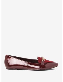 burgundy-larry-chain-embellished-pumps by dorothy-perkins