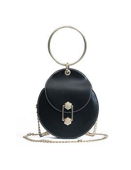 2018 Pu Leather Handbags Women's Designer Handbag Sweet Lady Round Bag High Quality Chain Bag Portable Tote Bag Shoulder Bags by Remiel