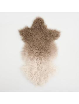 Brown Ombre Mongolian Sheepskin Rug by World Market