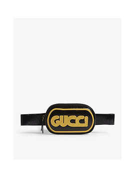 Striped Logo Patent Leather Belt Bag by Gucci