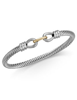 Cable Bangle Bracelet (5mm) In Sterling Silver & 14k Gold by Macy's
