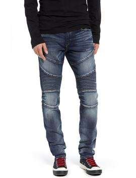 Rocco Skinny Fit Moto Jeans by True Religion Brand Jeans