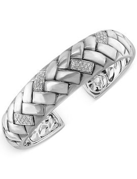 Effy Diamond Bangle Braid Bracelet (1/3 Ct. T.W.) In Sterling Silver by Effy Collection