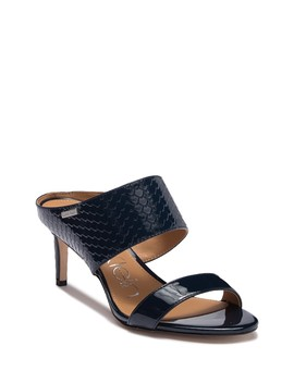 Cecily Patent Python Embossed Sandal by Calvin Klein