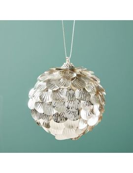 Metallic Sequins Ball Ornament by West Elm
