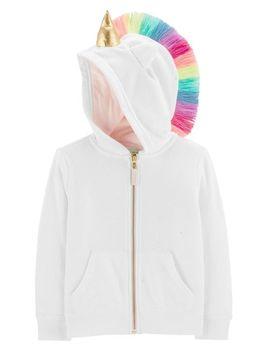 Unicorn Glitter Hoodie by Oshkosh
