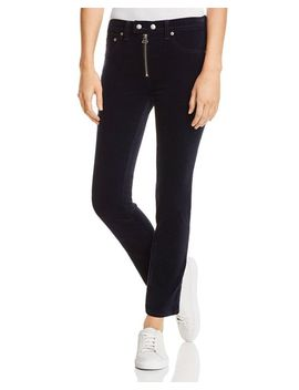 Dojo Velvet Straight Leg Jeans In Navy   100 Percents Exclusive by Rag & Bone/Jean