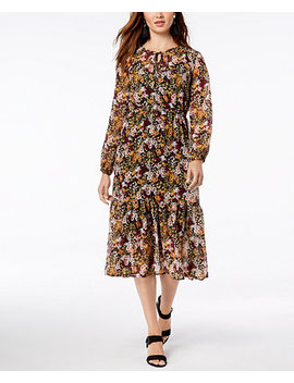 Floral Print Midi Dress, Created For Macy's by Maison Jules
