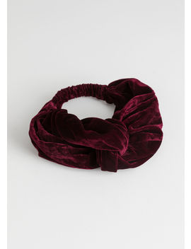 Velvet Twist Knot Hairband by & Other Stories