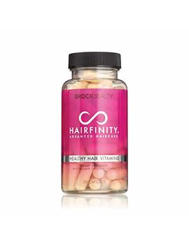 Brock Beauty Hairfinity Healthy Hair Vitamins 60 Capsules   Blend Of Amino Acids In Hydrolyzed Collagen, Msm, Horsetail & Silica For Longer, Stronger Hair (1 Month Supply) by Hairfinity