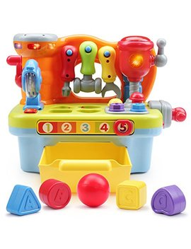 Toyk Multifunctional Music Learn Toolbox Kids Electronic Puzzle Education Toys For 1 2 3 4 5 6 7 8 9 10 Year Old Boys Girls by Toyk