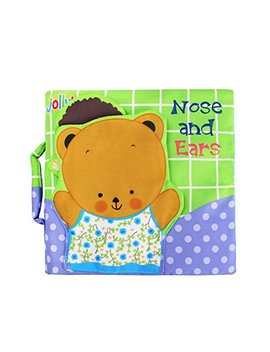 Quner Soft Book For Babies Fabric Activity Crinkle Cloth Books, Handmade Educational Toys For Baby, 0 3 Year Old, Toddler With Peekaboo Flap, Intelligence Development Learning Baby Toy Boy Girl by Quner