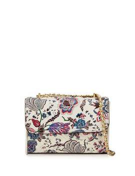Fleming Small Printed Convertible Shoulder Bag by Tory Burch