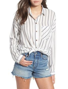 Holt Stripe Tie Hem Top by Rvca