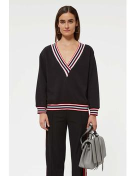 Kristine Sweatshirt With Stripes by Rebecca Minkoff