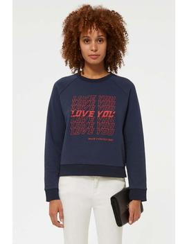 Love You Jennings Sweatshirt by Rebecca Minkoff