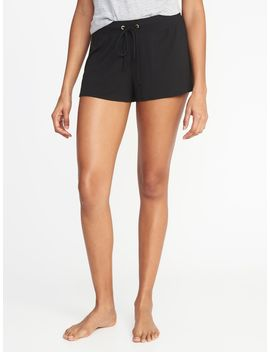 Drawstring Jersey Sleep Shorts For Women by Old Navy